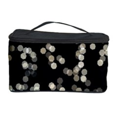 Christmas Bokeh Lights Background Cosmetic Storage Case