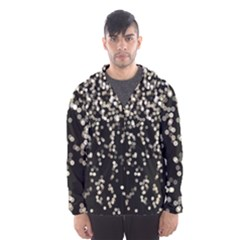 Christmas Bokeh Lights Background Hooded Wind Breaker (men)
