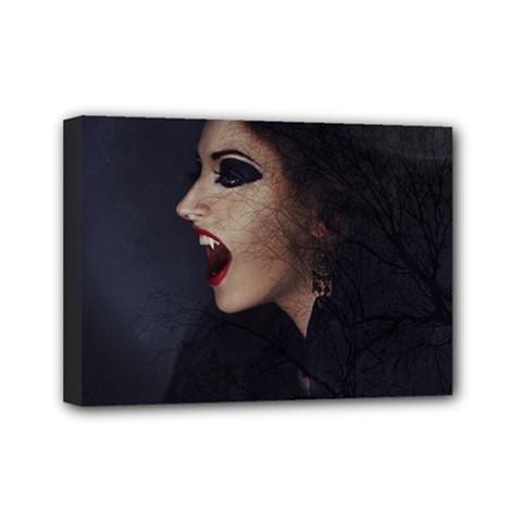 Vampire Woman Vampire Lady Mini Canvas 7  X 5  by BangZart