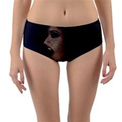 Vampire Woman Vampire Lady Reversible Mid Waist Bikini Bottoms