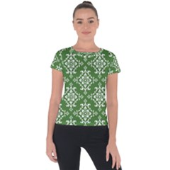 St Patrick S Day Damask Vintage Short Sleeve Sports Top