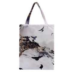 Birds Crows Black Ravens Wing Classic Tote Bag