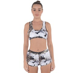 Birds Crows Black Ravens Wing Racerback Boyleg Bikini Set