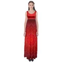 Mandala Ornament Floral Pattern Empire Waist Maxi Dress