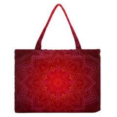 Mandala Ornament Floral Pattern Zipper Medium Tote Bag by BangZart