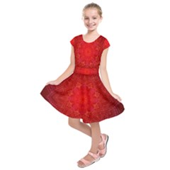 Mandala Ornament Floral Pattern Kids  Short Sleeve Dress