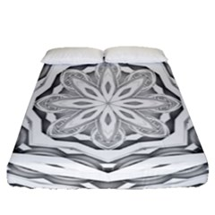 Mandala Pattern Floral Fitted Sheet (queen Size)