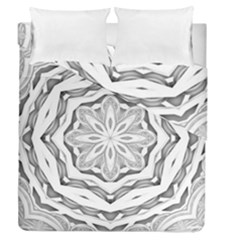 Mandala Pattern Floral Duvet Cover Double Side (queen Size) by BangZart