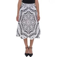 Mandala Pattern Floral Perfect Length Midi Skirt