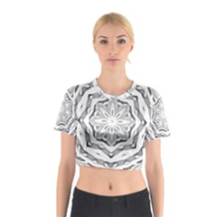 Mandala Pattern Floral Cotton Crop Top