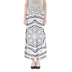 Mandala Pattern Floral Full Length Maxi Skirt