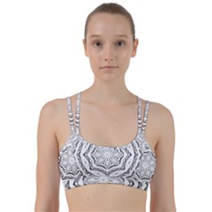 Mandala Pattern Floral Line Them Up Sports Bra