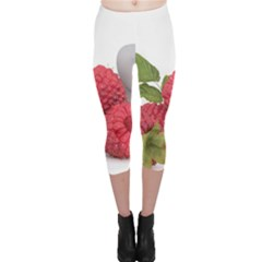 Fruit Healthy Vitamin Vegan Capri Leggings