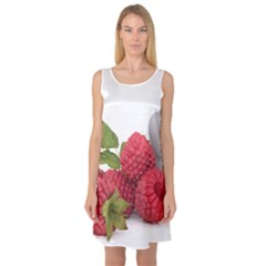 Fruit Healthy Vitamin Vegan Sleeveless Satin Nightdress