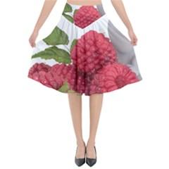 Fruit Healthy Vitamin Vegan Flared Midi Skirt