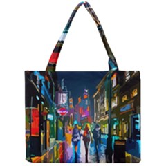 Abstract Vibrant Colour Cityscape Mini Tote Bag by BangZart