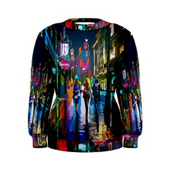 Abstract Vibrant Colour Cityscape Women s Sweatshirt