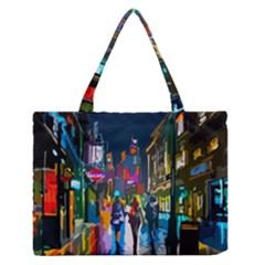 Abstract Vibrant Colour Cityscape Zipper Medium Tote Bag