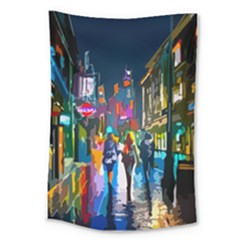 Abstract Vibrant Colour Cityscape Large Tapestry