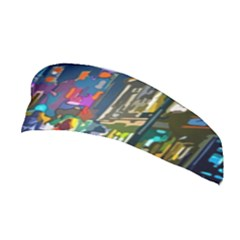 Abstract Vibrant Colour Cityscape Stretchable Headband