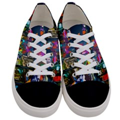 Abstract Vibrant Colour Cityscape Women s Low Top Canvas Sneakers