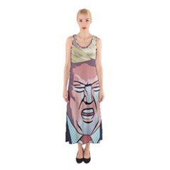 Donald Trump Pop Art President Usa Sleeveless Maxi Dress