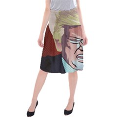 Donald Trump Pop Art President Usa Midi Beach Skirt