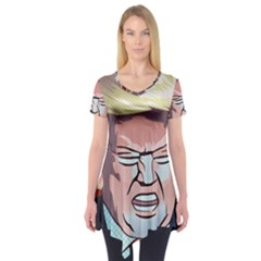 Donald Trump Pop Art President Usa Short Sleeve Tunic