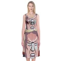 Donald Trump Pop Art President Usa Midi Sleeveless Dress