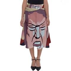Donald Trump Pop Art President Usa Perfect Length Midi Skirt