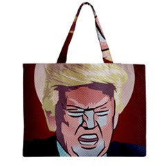 Donald Trump Pop Art President Usa Zipper Medium Tote Bag