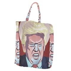 Donald Trump Pop Art President Usa Giant Grocery Zipper Tote