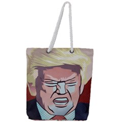 Donald Trump Pop Art President Usa Full Print Rope Handle Tote (large) by BangZart
