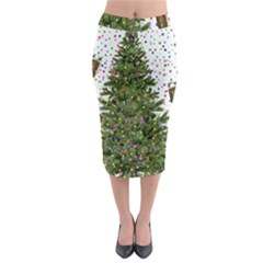 New Year S Eve New Year S Day Midi Pencil Skirt by BangZart