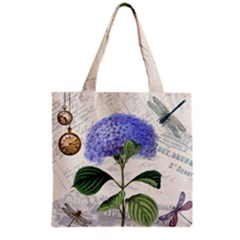 Vintage Shabby Chic Dragonflies Grocery Tote Bag