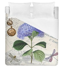Vintage Shabby Chic Dragonflies Duvet Cover (queen Size)
