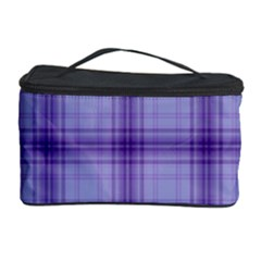 Purple Plaid Original Traditional Cosmetic Storage Case
