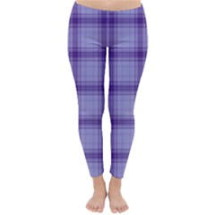 Purple Plaid Original Traditional Classic Winter Leggings