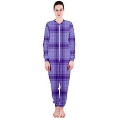 Purple Plaid Original Traditional Onepiece Jumpsuit (ladies)