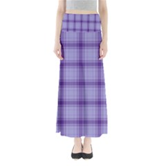 Purple Plaid Original Traditional Full Length Maxi Skirt