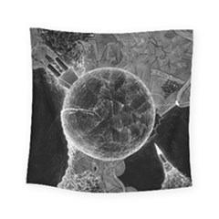 Space Universe Earth Rocket Square Tapestry (small)