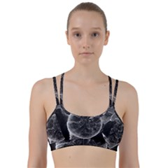 Space Universe Earth Rocket Line Them Up Sports Bra