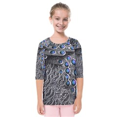 Feather Bird Bird Feather Nature Kids  Quarter Sleeve Raglan Tee