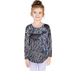 Feather Bird Bird Feather Nature Kids  Long Sleeve Tee