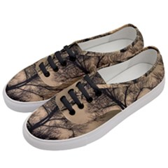 Tree Bushes Black Nature Landscape Women s Classic Low Top Sneakers by BangZart