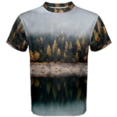 Trees Plants Nature Forests Lake Men s Cotton Tee