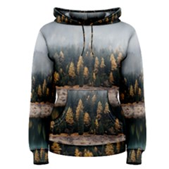 Trees Plants Nature Forests Lake Women s Pullover Hoodie