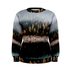 Trees Plants Nature Forests Lake Women s Sweatshirt