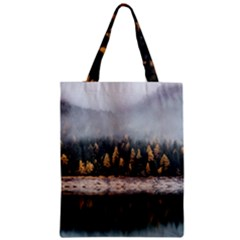 Trees Plants Nature Forests Lake Zipper Classic Tote Bag by BangZart
