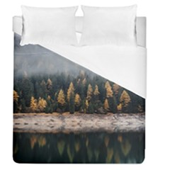 Trees Plants Nature Forests Lake Duvet Cover (queen Size) by BangZart